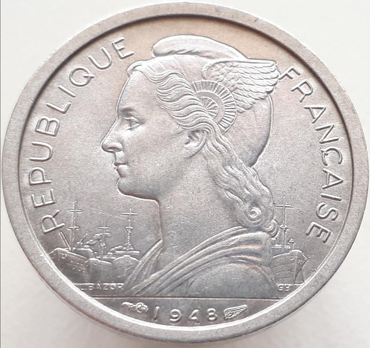 Реюньон 1 франк 1948