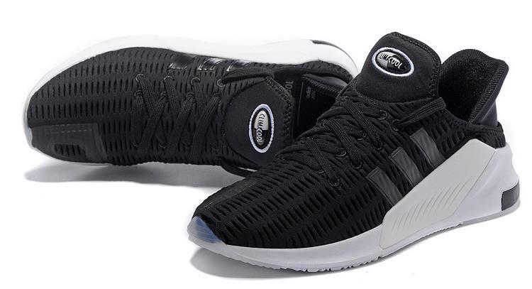 Чоловічі кросівки Adidas Climacool ADV чорні на білій підошві