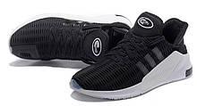 Мужские кроссовки Adidas Climacool ADV черные на белой подошве