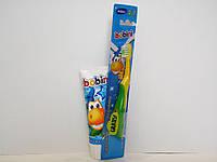 Детская зубная паста и щетка Bobini (c 6 лет) 75 мл.