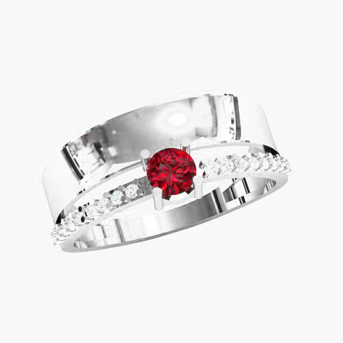 Кольцо  женское серебряное Параллели KE-1454