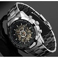 Мужские автоматические механические Часы Winner Timi Skeleton с автоподзаводом в подарочной коробке