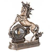 """Элитные настольные часы Veronese """"Вздыбившийся конь"""" 28*32 см"""