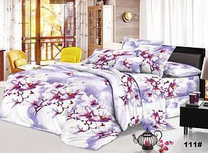 Двуспальное постельное белье София 3D Зимняя вишня