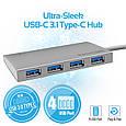 USB Type-C ХАБ Promate Minihub-C4 SpaceGrey, фото 7
