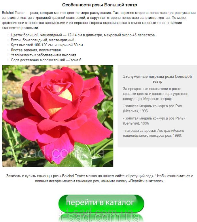 Фото страницы оформленного товара на сайте «Цветущий сад». Ниже — ещё 7 подобных фрагментов.