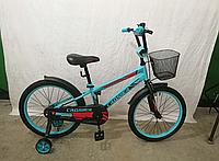 Детский велосипед JK-717 CROSSER (12 дюймов) бирюзовый ***