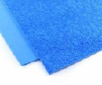 Фоамиран плюш (махровый) 21х30см. цвет-голубой