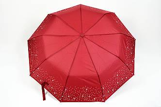 Зонт звезды серебряные вишневый