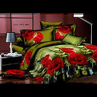 Постельное белье 3D Багряные розы полиэстер