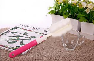 Щетка для мытья чашек, термосов и кружок розовая