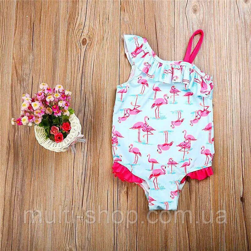 Купальник для девочки Фламинго.