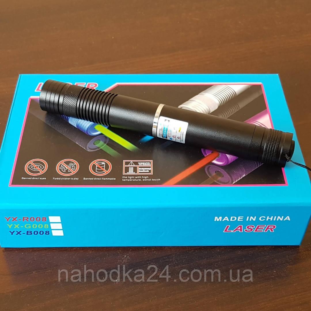 Синий лазер 15000mW Pro (445nm) B008 с дополнительными насадками!