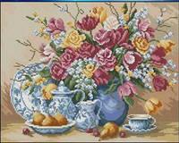 """Алмазная вышивка  """"Букет цветов в вазе"""" (набор для творчества)"""