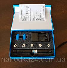 Синий лазер 15000mW Pro (445nm) B008 с дополнительными насадками!, фото 3