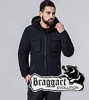 Braggart 4775 | Ветровка мужская весна-осень черный