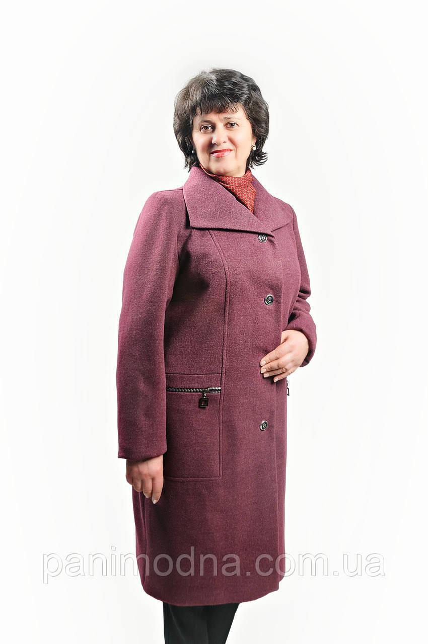 """Женское пальто  """"Афродита"""" на подладке из шерсти """"Меланж"""""""