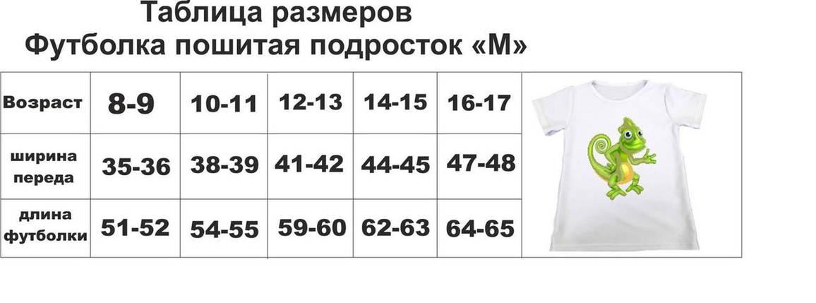 ПФМ-14 Подростковая футболка- заготовка под вышивку для мальчика, фото 2