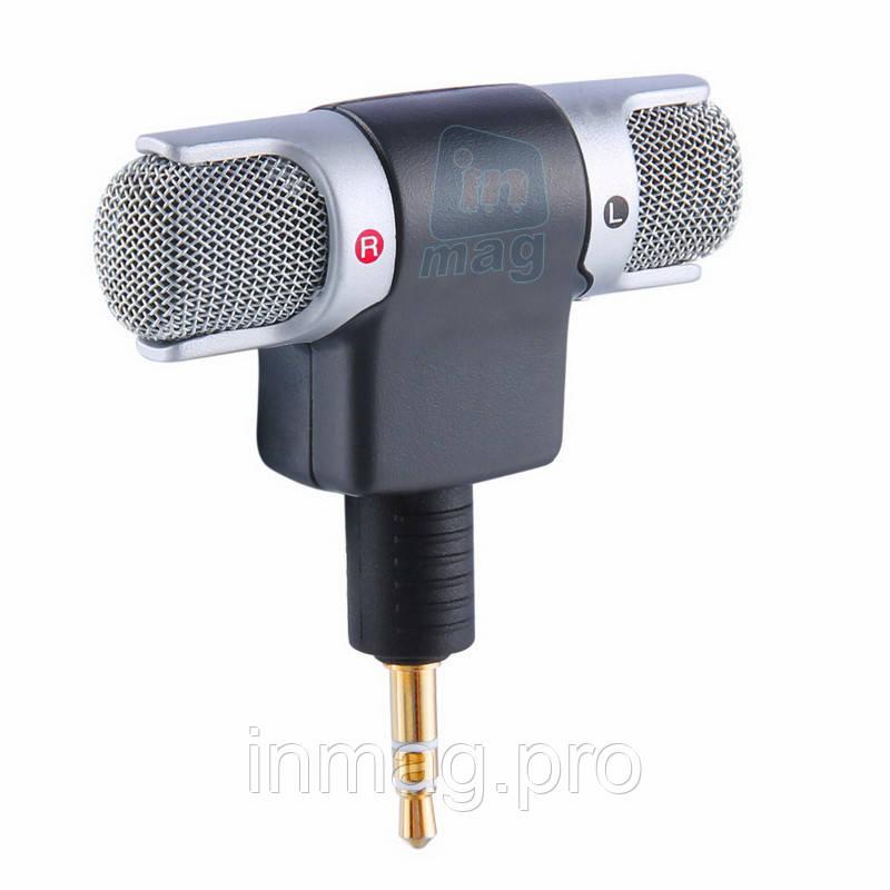Внешний поворотный стерео микрофон MINI для камер, планшетов, смартфон