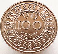 Суринам 100 центов 1989