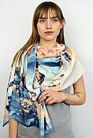 Палантин Стефани голубой