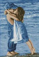 """Набор для рисования камнями (алмазная техника на холсте) """"Первый поцелуй у моря"""""""