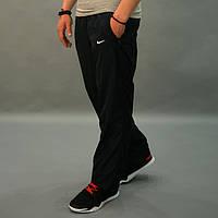 Утепленные штаны из плащевки на флисовой подкладке Nike (Найк) / размеры 46-54, Черные