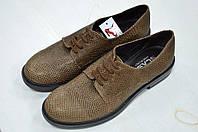Кожаные коричневого цвета туфли на шнуровке Slash к.1000
