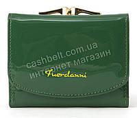 Женский компактный лаковый вместительный кошелек FUERDANNI art. 2568 темно зеленый, фото 1
