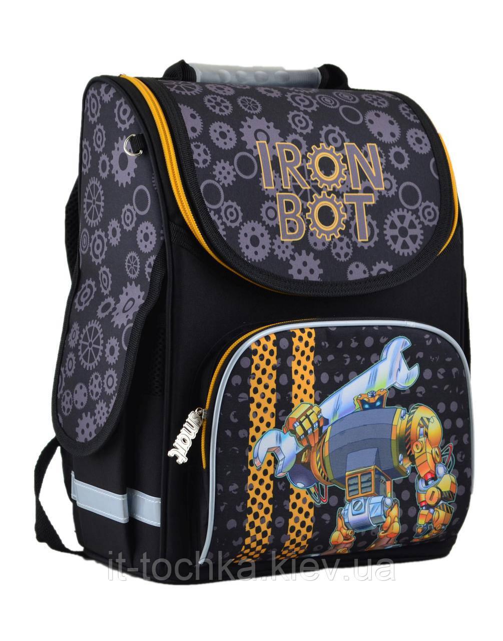 Рюкзак школьный каркасный smart pg-11 iron bot, 34*26*14