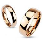 Обручальное кольцо из ювелирной стали, цвет розовое золото 316L Spikes Spikes, 15.75, фото 2