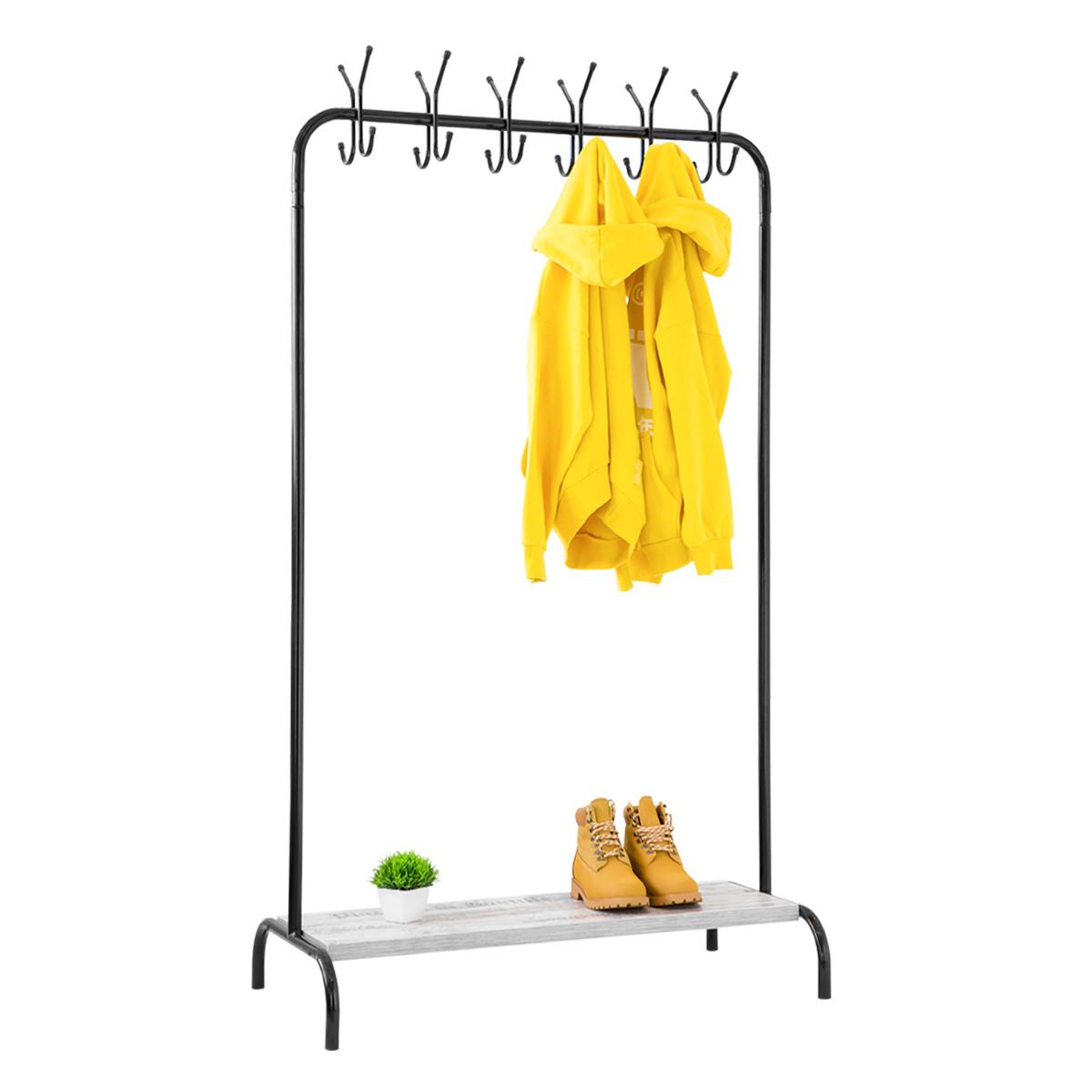 """Стойка для одежды """"Лофт 8 чёрный"""" - 178х100х49 см"""