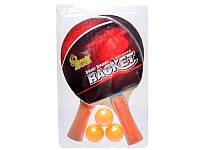 Теннис наст.BT-PPS-0003 ракетки (0,7см,цвет.ручка)+3мяча пласт.ш.к./60/