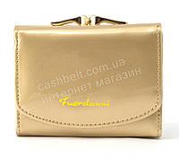Женский компактный лаковый вместительный кошелек FUERDANNI art. 2568 золото, фото 1