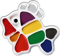 Акварель Луч, Рибка, 9 кольорів, фігурна пластикова коробка, 12С828-08-1, уцінка
