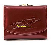 Женский компактный лаковый вместительный кошелек FUERDANNI art. 2568 бордовый, фото 1