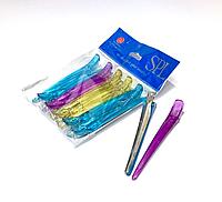 Зажимы для стрижки волос с металлическим основанием SPL 926160, (набор 10шт.)