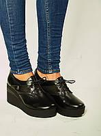 Туфли на платформе,материал натуральная кожа