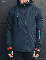 Мужская демисезонная темно-синяя куртка Staff solo navy ER0005