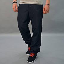 Утепленные спортивные штаны из плащевки - Nike (Найк) / демисезонные, размеры 46-54, темно-синие, фото 2