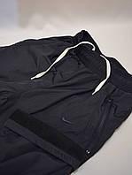 Утепленные спортивные штаны из плащевки - Nike (Найк) / демисезонные, размеры 46-54, темно-синие