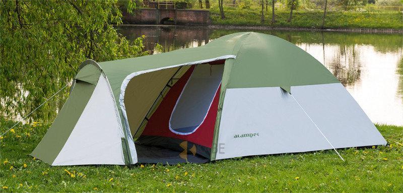 Палатка туристическая четырехместная 3000 мм Acamper MONSUN 4