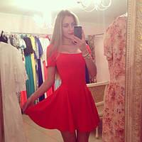 Платье декольте квадрат короткий рукав