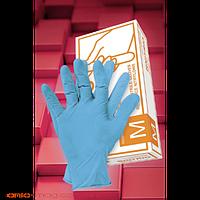 Перчатка медицинская нитрил RNITRIO синяя M  L XL  50пар упаковка