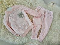 Стильный розовый костюм для девочки Турция