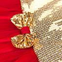 Платье золотое с красной юбкой, фото 4