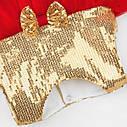 Платье золотое с красной юбкой, фото 9