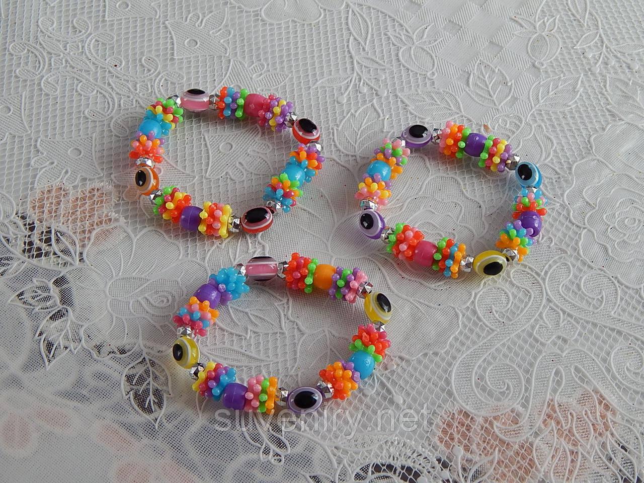 Красивые модные детские браслеты с глазиками