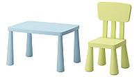 Детский столик и стул IKEA MAMMUT