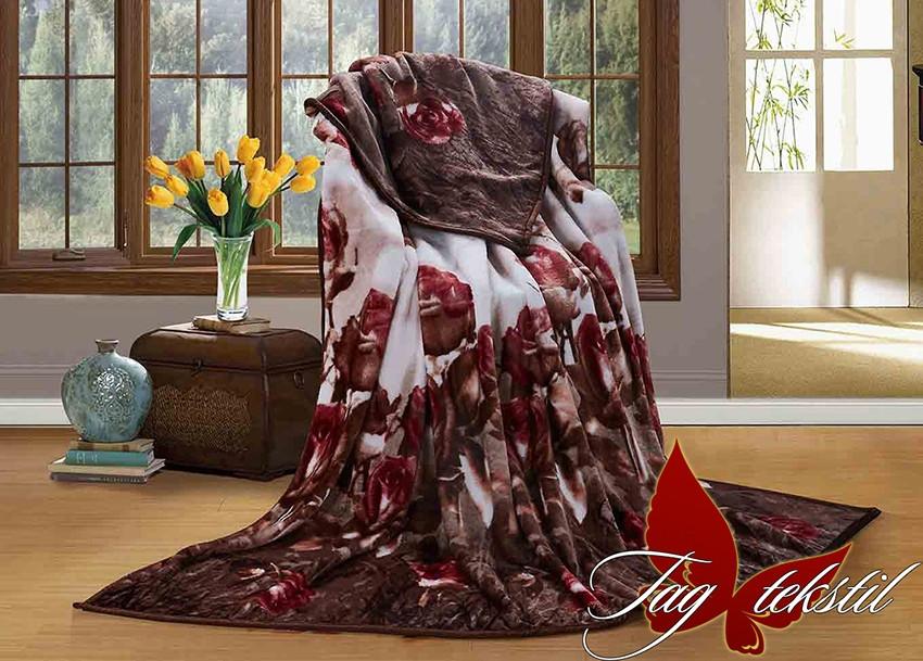 Плед с розами велсофт (микрофибра) 160х220
